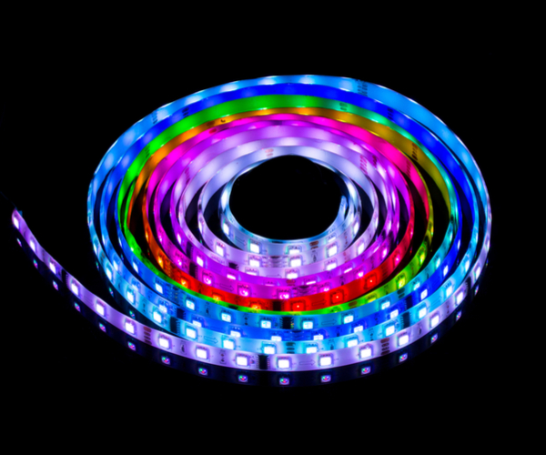 RGB glowing LED strip light