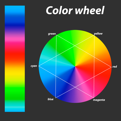 RGB color wheel illustration