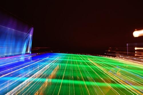 Taiwan Night fantasy scenery street lights