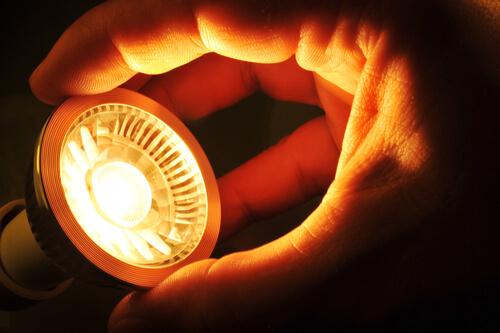 changing a COB LED at night