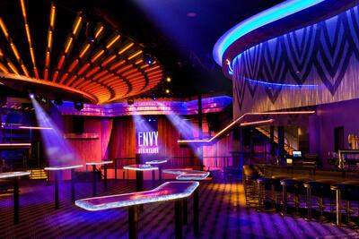 LED lights inside a bar