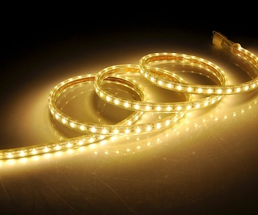 LED strip light on black background1